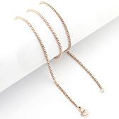 Rose gold box chain 32 inch 80 cm