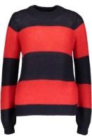 T2066 Dark Blue/Red Knit