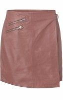 Eligio buckel leather skirt - Rose