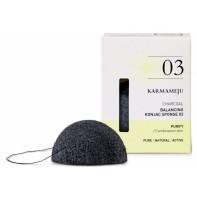 Karmameju 03 Balancing Konjak Sponge - CHARCOAL //6-9g
