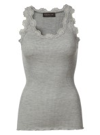 Lace silk stop - Grey