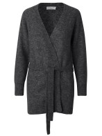 Long knit cardigan - Dark Grey / Cashmere