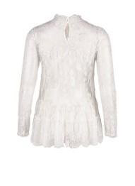 R1123 White Lace Blouse - SIze M