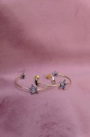 Birdie stargazing creol earrings