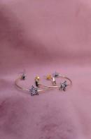 Birdie stargazing creol earrings