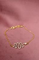 Daisy snake chain bracelet
