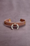 Laila dusty rose bone cuff