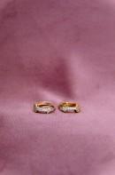 Liva arrow gold earrings