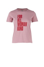 T1562 P Rose / Tshirt w. large text print - Size S