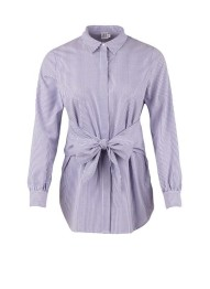 T1019 White/Blue - Randig Skjorta - Size S