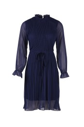 T6071 ant. blue / Woven dress - Size XS