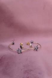 Birdie stargazing creol earrings - Birdie stargazing creol earrings