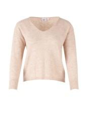 T2097 Sand / knit blouse - Size M