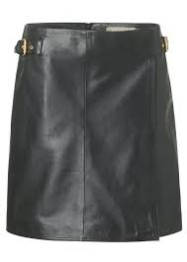 Eligio buckel leather skirt - black - Size M