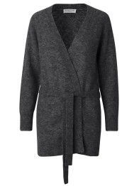 Long knit cardigan - Dark Grey / Cashmere - Size S