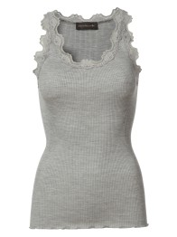 Lace silk stop - Grey - Size S