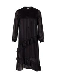 T6195 Black Ruffle Dress - Size XS