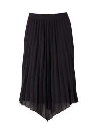 T8022 Woven Skirt Calf // Black - Size XS