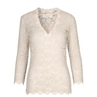 Full Lace Blouse - Beige