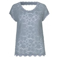 Lace T shirt - dusty blue