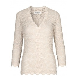 Full Lace Blouse - Beige - Size S