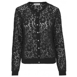 Lace Cardigan -Black - Size XS