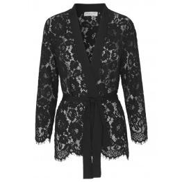 Lace Kimono - Black - Size 36