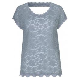 Lace T shirt - dusty blue - Size S