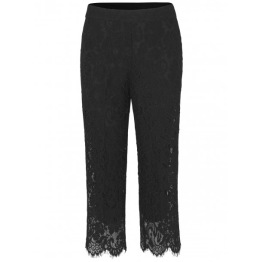 Lace Trousers - Black - Size 36