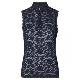 Lace top - Dark Blue - Size XS