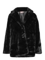 Jennabel Jacket - Black Faux Fur