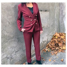 Ione Pants - Wine red - Size S