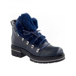 Blue Fur Boot - Size 36
