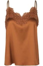 Silk Strap Top -Copper - Size 36