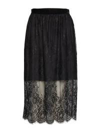 Lace Skirt - Black - Size 36