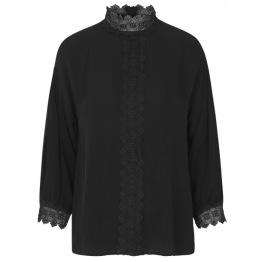 Blouse w. lace details - Size 38