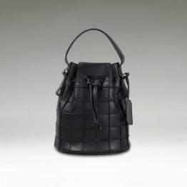 Mini Bucket Bag - Black -