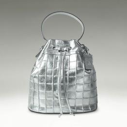 Bucket Bag -Silver -