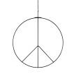 Peacemärke hängande - Peace hängande