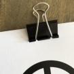 Peace Prints Imagine & Peacemärke - Svart metallklämma 2-pack