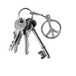 Peacemärke nyckelring