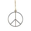 Peacemärke hängande litet - Peace litet 3st