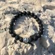 Peace Armband stenar - Armband lava svart