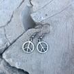 Peace örhängen - Örhängen hängande