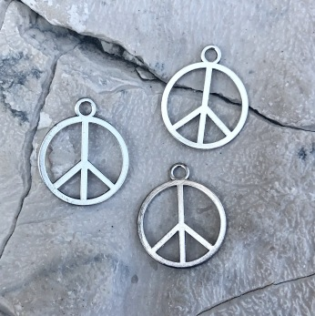 Peace Berlocker - Silver