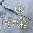 Peace Berlocker - Guld