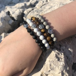 Peace Armband stenar