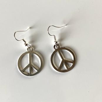 Peace Örhängen - Örhängen silver