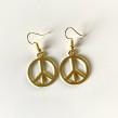 Peace Örhängen - Örhängen guld