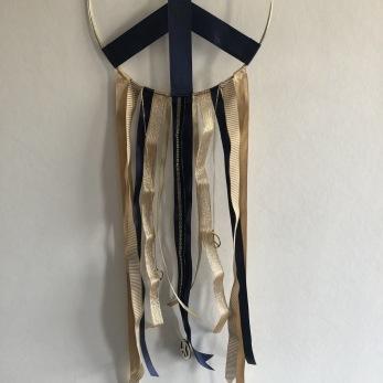 Peace Drömfångare - Peace drömfångare guld/blå Ø 20 cm